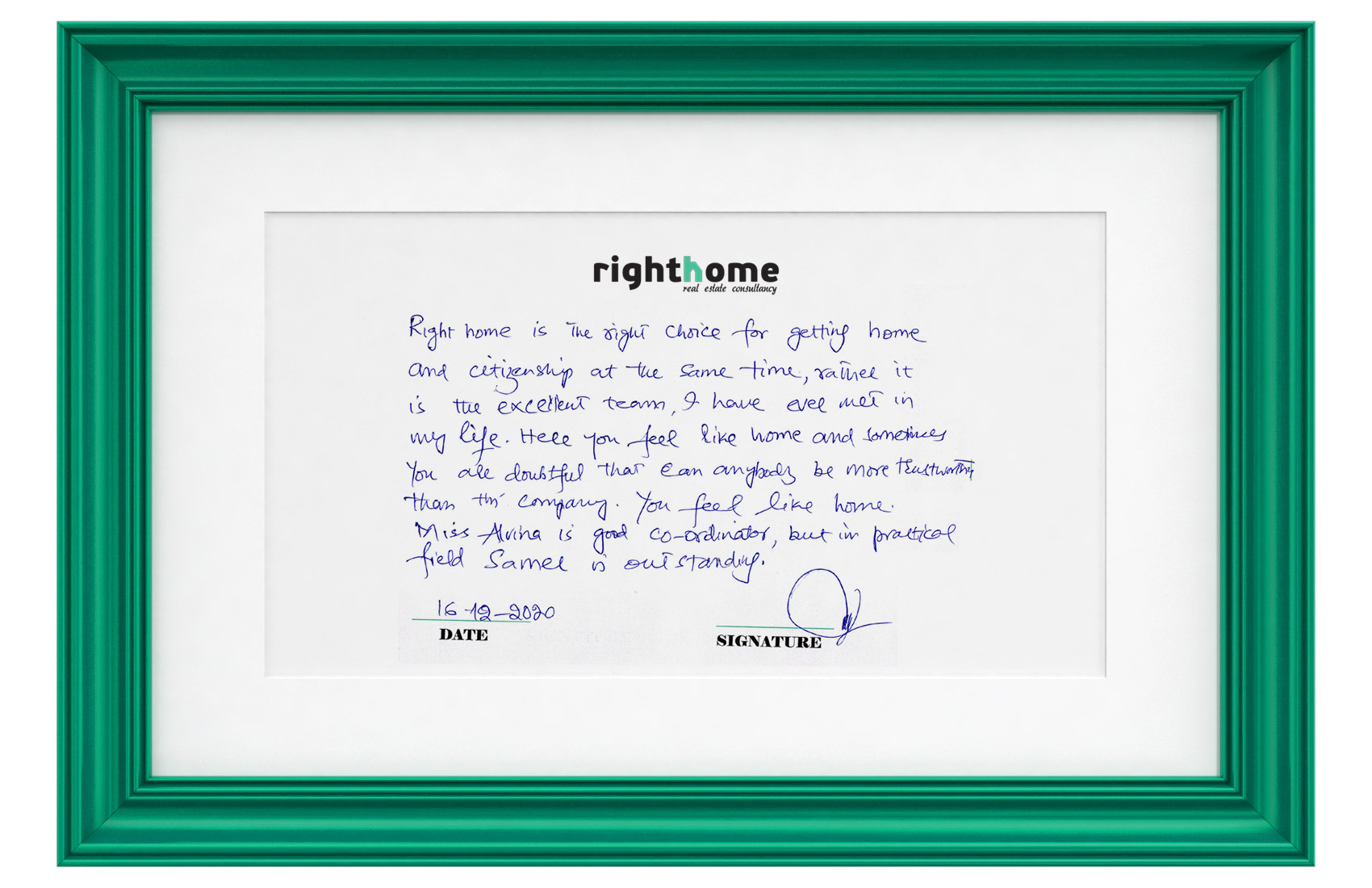 right home testimonials