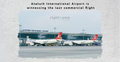 Ataturk International Airport  is witnessing the last commercial flight