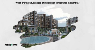 What are the advantages of residential compounds in Istanbul?