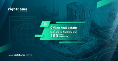 Online real estate sales exceeded 100 million Turkish Lira