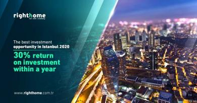 The best investment opportunity in Istanbul 2020, 30% return on investment within a year