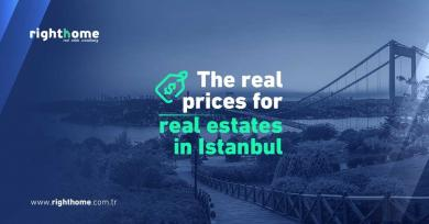 The real prices for real estates in Istanbul