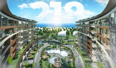 RH 218 - Residential complex with direct sea view in Buyukcekmece, ready for housing and suitable for Turkish citizenship
