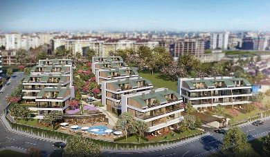 RH 44-Apartments with direct sea view at Buyukcekmece marina
